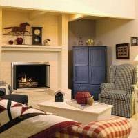 идея использования красивого интерьера комнаты в стиле ретро фото