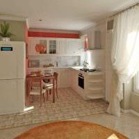 вариант применения необычного интерьера кухни картинка