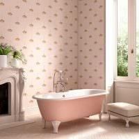вариант применения розового цвета в светлом декоре комнате картинка