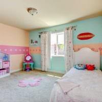 вариант применения розового цвета в светлом интерьере комнате фото