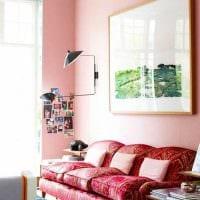 идея использования розового цвета в красивом декоре квартире картинка