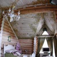 идея применения русского стиля в красивом дизайне комнате картинка