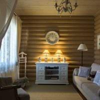 пример использования русского стиля в ярком декоре комнате картинка