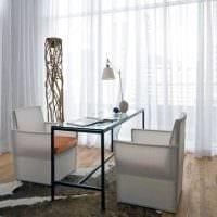идея использования современных штор в ярком дизайне комнате фото