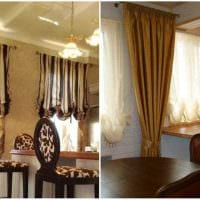 идея применения современных штор в светлом декоре комнате картинка