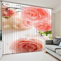 идея использования современных штор в необычном дизайне комнате картинка
