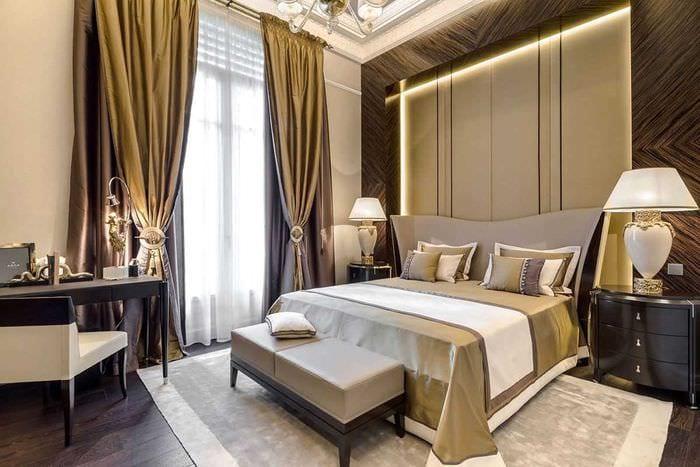 пример применения современных штор в необычном интерьере квартире