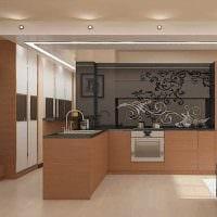 вариант применения светлого стиля кухни картинка