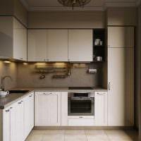 вариант применения яркого дизайна кухни фото