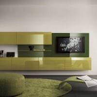 вариант использования зеленого цвета в светлом дизайне квартиры картинка