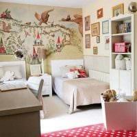 пример красивого декора детской комнаты для двоих девочек картинка