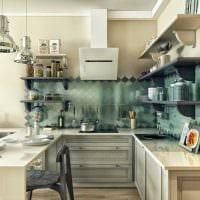 пример необычного декора кухни 8 кв.м фото