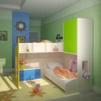 вариант светлого интерьера детской комнаты для двоих девочек картинка