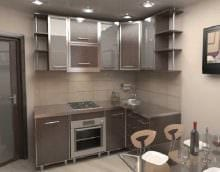 идея яркого стиля кухни 8 кв.м фото