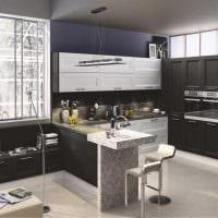 идея яркого декора кухни 9 кв.м фото
