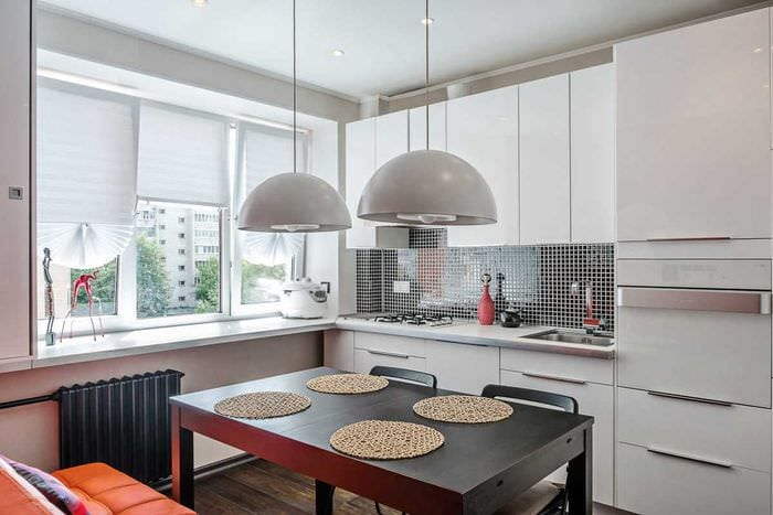 вариант яркого стиля кухни 8 кв.м