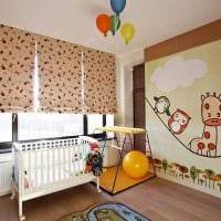вариант красивого современного интерьера детской комнаты картинка
