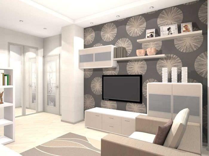 пример светлого дизайна двухкомнатной квартиры