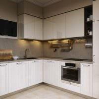 пример яркого стиля кухни 14 кв.м фото