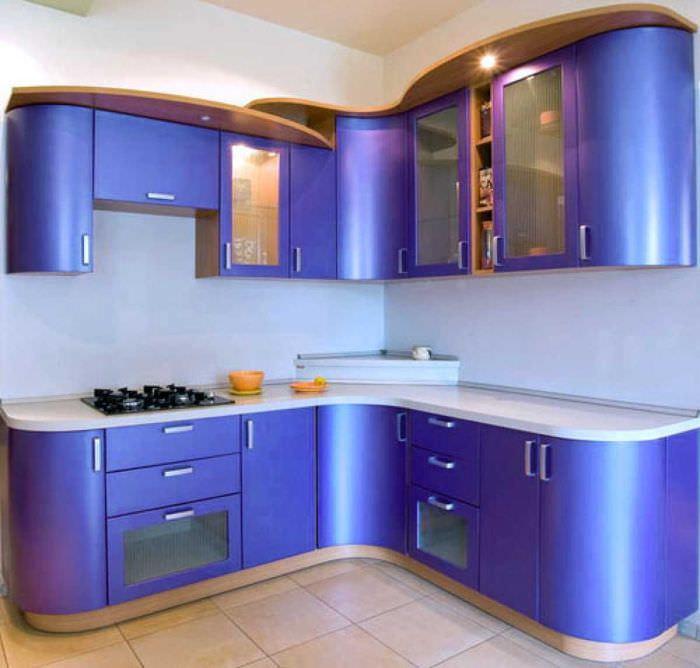 идея светлого дизайна кухни 14 кв.м