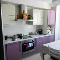 идея красивого интерьера кухни 8 кв.м фото