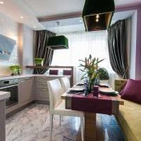 идея красивого стиля кухни 9 кв.м фото