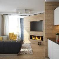 идея интересного сочетания бежевого цвета в дизайне комнаты картинка