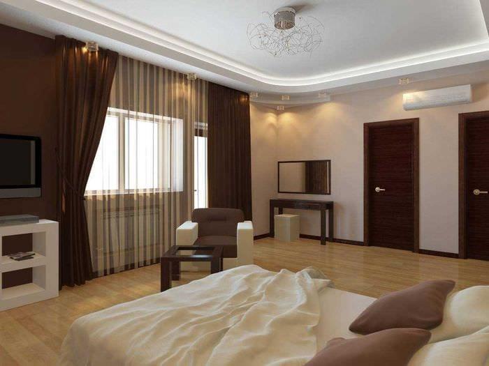 вариант яркого сочетания бежевого цвета в дизайне комнаты