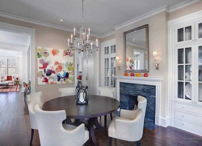 идея необычного сочетания бежевого цвета в стиле квартиры