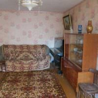 идея яркого интерьера комнаты в советском стиле картинка