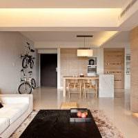 вариант применения необычного бежевого цвета в дизайне комнаты