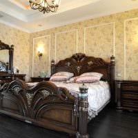 пример применения светлого декора комнаты в стиле ретро фото