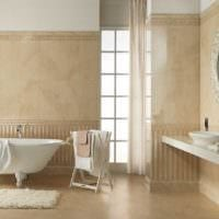 вариант применения яркого бежевого цвета в дизайне дома