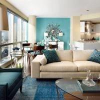 идея использования интересного голубого цвета в стиле комнаты фото