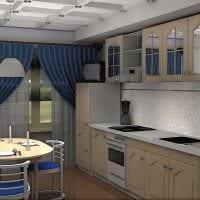 вариант использования необычного интерьера кухни фото