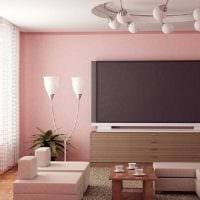 идея использования розового цвета в необычном декоре комнате картинка