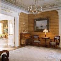 вариант использования русского стиля в необычном дизайне комнате картинка
