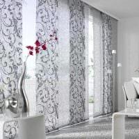 пример применения современных штор в необычном декоре комнате фото