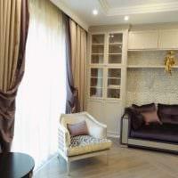 пример использования современных штор в красивом декоре комнате фото