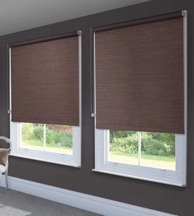 идея применения современных штор в необычном дизайне квартире