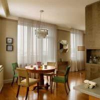 вариант применения необычного дизайна комнаты в стиле ретро фото