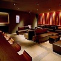 пример использования красивого дизайна комнаты в стиле ретро фото
