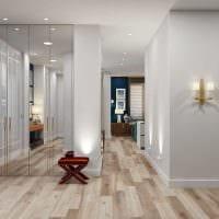 идея применения светлого ламината в красивом дизайне дома фото