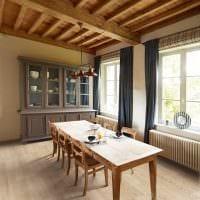 вариант использования светлого ламината в необычном стиле квартиры картинка