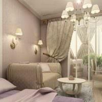 идея применения светлого ламината в красивом дизайне квартиры картинка
