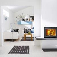 идея применения светлого ламината в необычном стиле квартиры фото