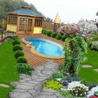 вариант применения ярких растений в ландшафтном дизайне дома фото