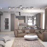 вариант применения светового дизайна в необычном декоре квартиры фото
