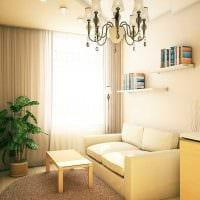 идея применения светового дизайна в необычном декоре квартиры фото