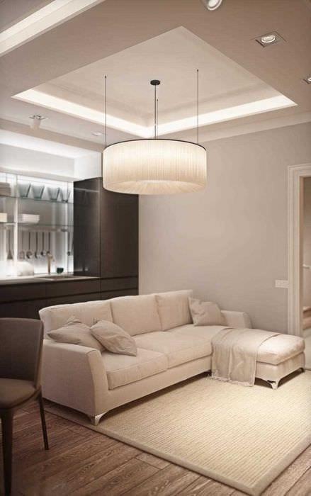 вариант использования светового дизайна в ярком стиле дома